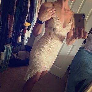 NWOT ivory lace high-low dress